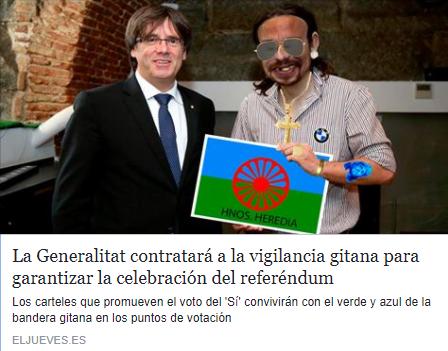 La Generalitat contratará a la vigilancia gitana para garantizar la celebración del referéndum