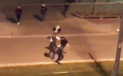 Batalla campal de Cornellà: gritos ultras durante la pelea