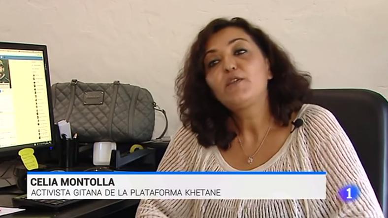 El equipo de Rromani Pativ en el Telediario 1 de TVE1 ante la polémica del monólogo de Robert Bodegas