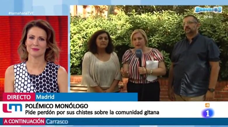 El equipo de Rromani Pativ en Las Mañanas de TVE1 ante la polémica del monólogo de Robert Bodegas