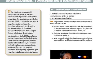 Recomendación de política general nº 11  sobre la lucha contra el racismo y la discriminación racial en el ámbito policial